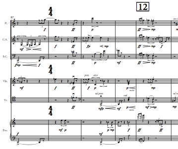 snapshot of score of The Bossa Nova Variations