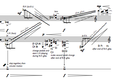 snapshot of score of Variations on a theme of George Harrison
