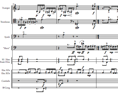 snapshot of score of Son of the Bebop Variations